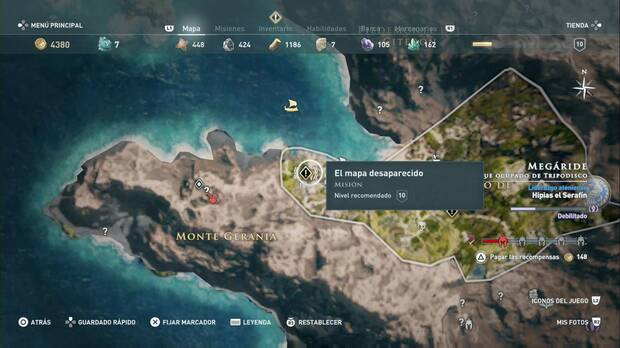 Assassin's Creed Odyssey - El mapa desaparecido: localización