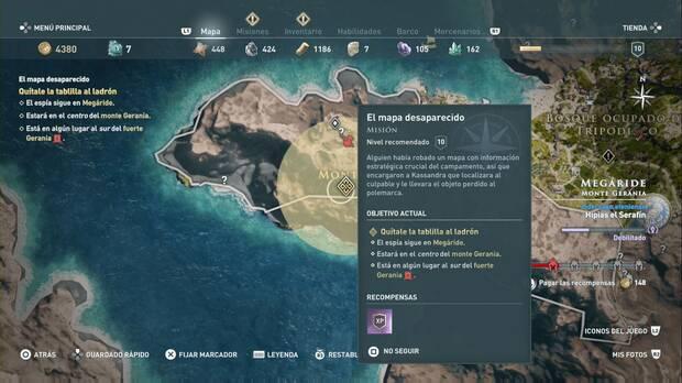 Assassin's Creed Odyssey - El mapa desaparecido: zona de búsqueda