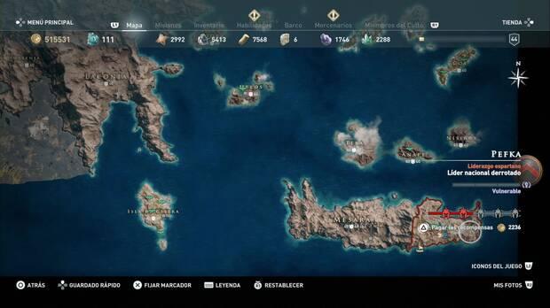 Assassin's Creed Odyssey - Solo quieren crueldad: localización de Pefka