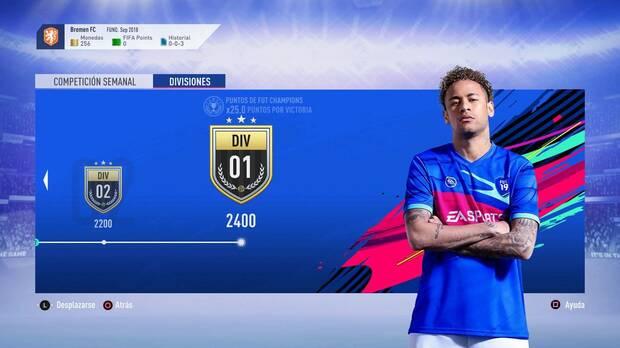 FIFA 19 - Divisiones