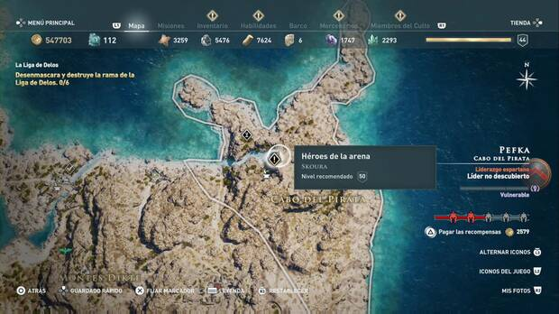 Assassin's Creed Odyssey - Héroes de la arena: localización