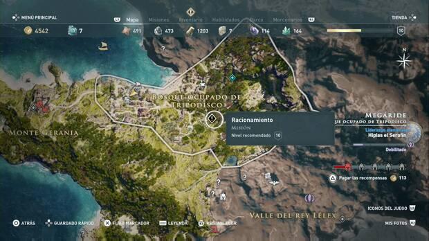Assassin's Creed Odyssey - Racionamiento: localización de la misión
