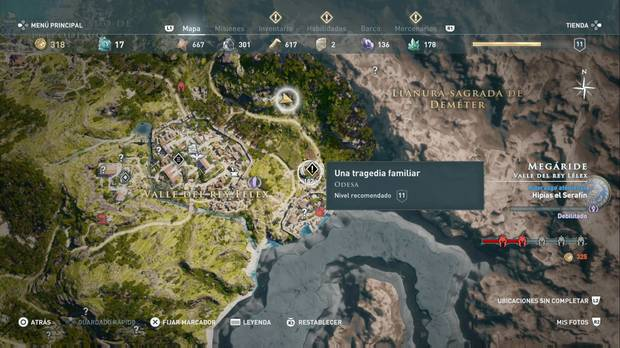 Assassin's Creed Odyssey - Una tragedia familiar: localización de la misión