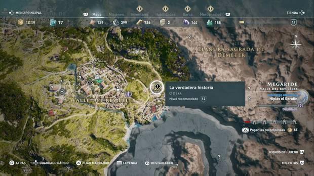Assassin's Creed Odyssey - La verdadera historia: localización