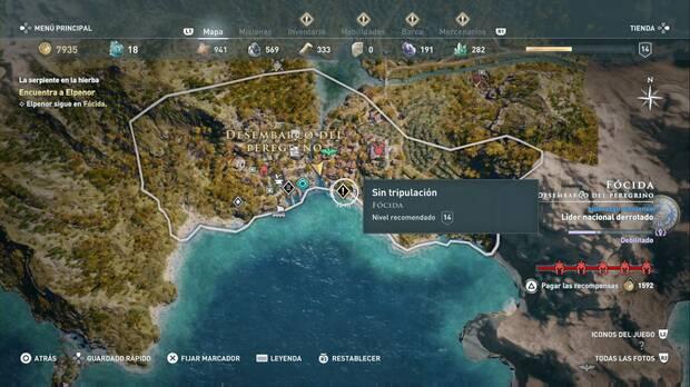Assassin's Creed Odyssey - Sin tripulación: localización