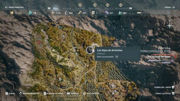 Assassin's Creed Odyssey - Las hijas de Artemisa: localización