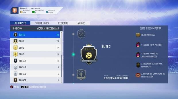 FIFA 19 Premios - Elite 3