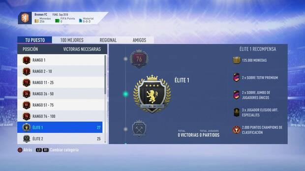 FIFA 19 Premios - Elite 1
