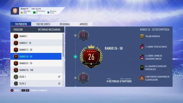 FIFA 19 Premios - Rango 26-50