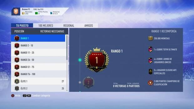 FIFA 19 Premios - Rango 1