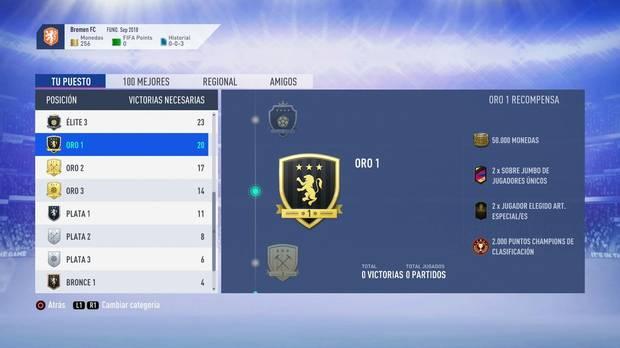 FIFA 19 Premios - Oro 1
