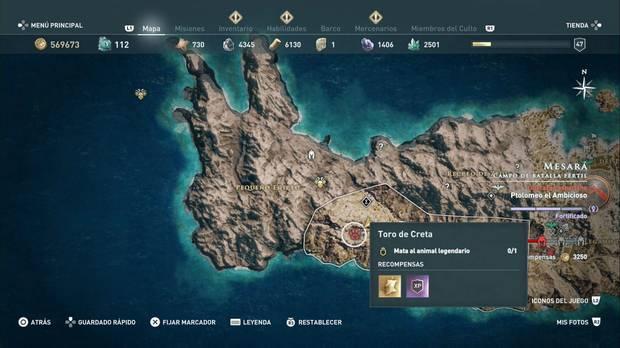 Assassin's Creed Odyssey - El toro de Creta: localización