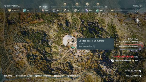 Assassin's Creed Odyssey - La edad es solo un número: localización