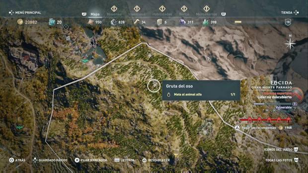 Assassin's Creed Odyssey - La edad es solo un número: localización de los osos