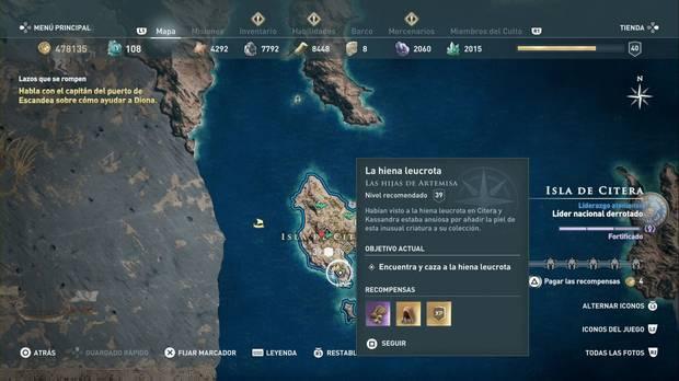 Assassin's Creed Odyssey - La hiena leucrota: localización