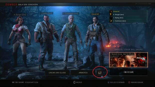 Call of Duty Black Ops 4: Jugar al modo zombis con bots