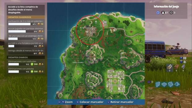 Fortnite Battle Royale - Estandarte oculto Semana 4