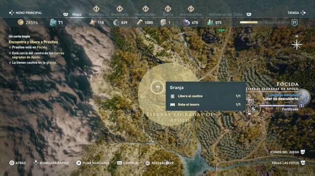 Assassin's Creed Odyssey - Un corte limpio: localización de la granja