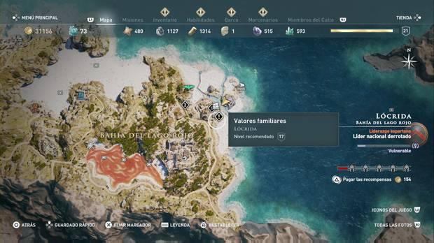 Assassin's Creed Odyssey - Valores familiares: localización
