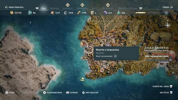 Assassin's Creed Odyssey - Muerte e impuestos: localización