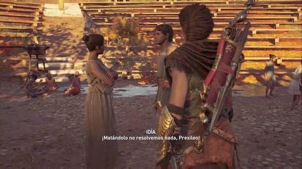 Assassin's Creed Odyssey - La libertad no es gratis: ciudadanos discuten por la Daga
