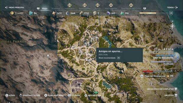 Assassin's Creed Odyssey - Amigos en apuros... localización