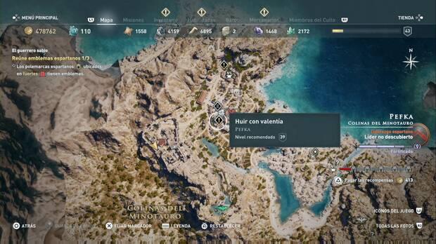 Assassin's Creed Odyssey - Huir con valentía: localización