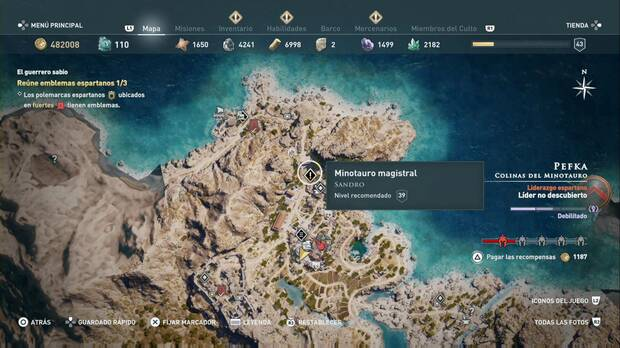 Assassin's Creed Odyssey - Minotauro magistral localización