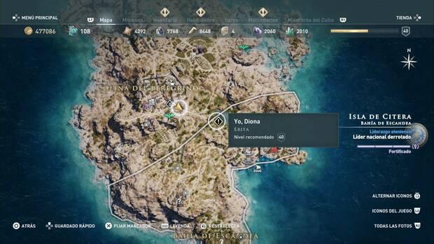 Assassin's Creed Odyssey - Yo, Diona: localización