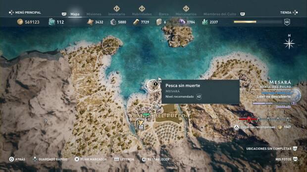 Assassin's Creed Odyssey - Pesca sin muerte: localización