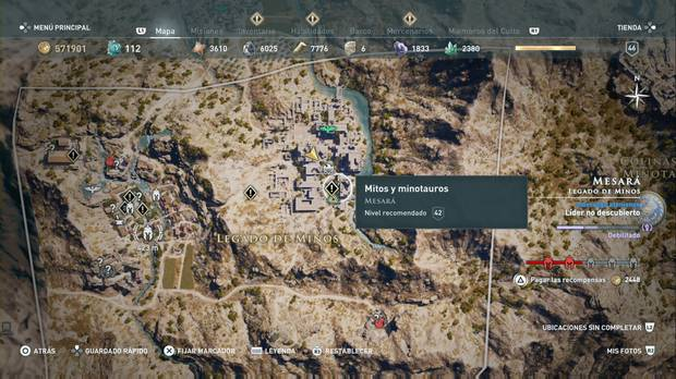 Assassin's Creed Odyssey - Mitos y minotauros: localización