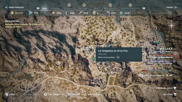 Assassin's Creed Odyssey - La venganza se sirve fría: localización de la misión