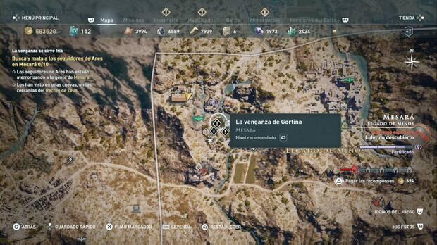 Assassin's Creed Odyssey - La venganza de Gortina: localización