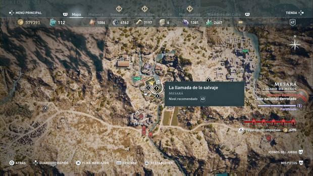 Assassin's Creed Odyssey - La llamada de lo salvaje: localización