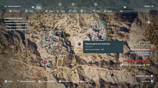 Assassin's Creed Odyssey - Flores para los muertos: localización