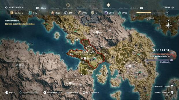 Assassin's Creed Odyssey - Localización de la región de Megáride