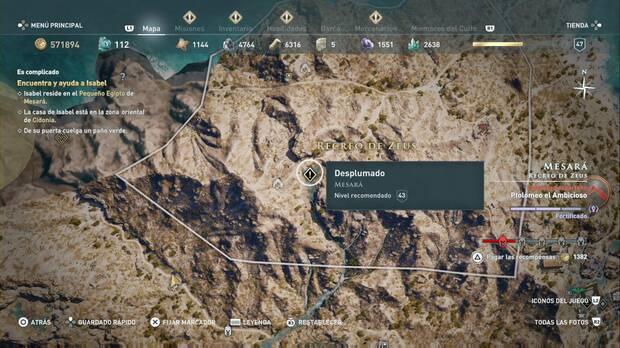 Assassin's Creed Odyssey - Desplumado: localización