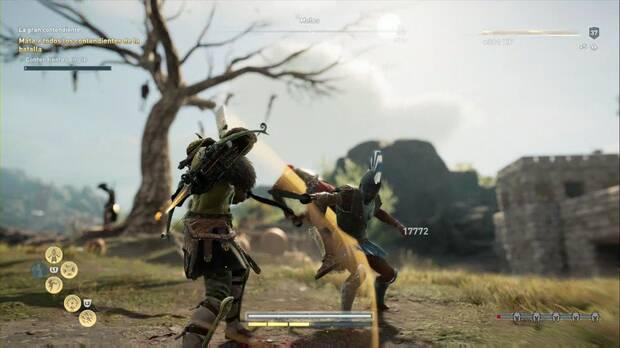 Assassin's Creed Odyssey - La gran contendiente: usa una maza para facilitar las cosas