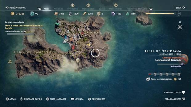Assassin's Creed Odyssey - La gran contendiente: escala la montaña que está al sudeste