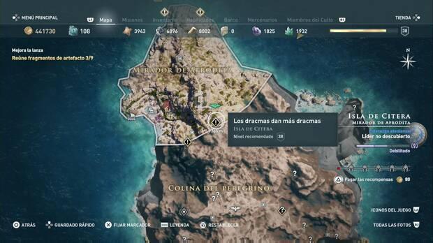Assassin's Creed Odyssey - Los dracmas dan más dracmas: localización