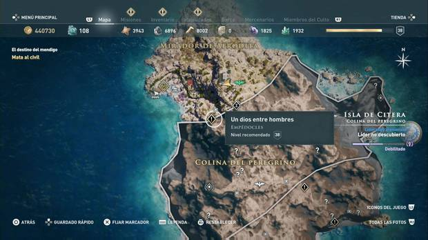 Assassin's Creed Odyssey - Un dios entre hombres: localización