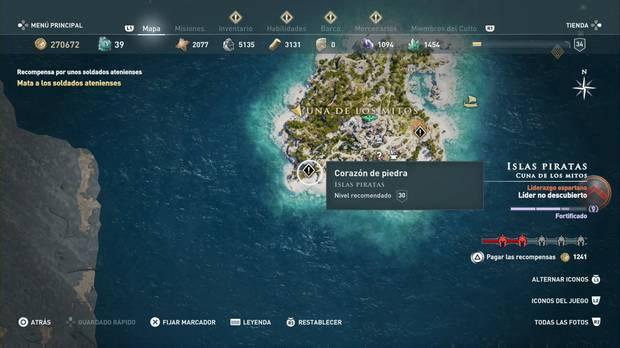 Assassin's Creed Odyssey - Corazón de piedra: localización