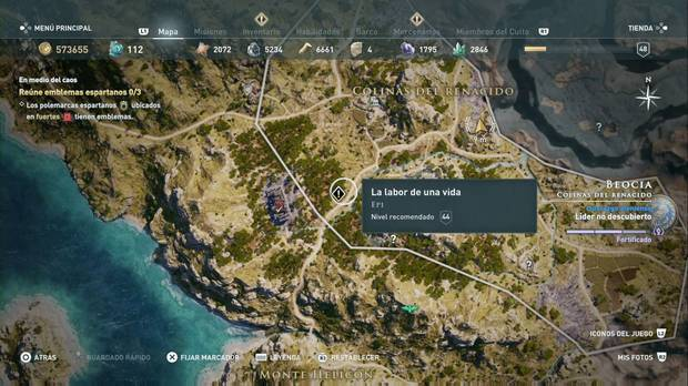 Assassin's Creed Odyssey - La labor de una vida: localización