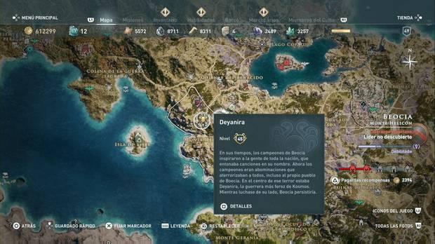 Assassin's Creed Odyssey - Miembros del Culto: localización de Deyanira