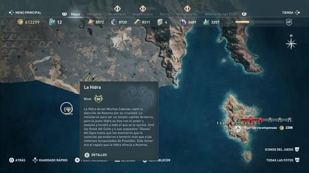 Assassin's Creed Odyssey: Miembros del Culto: localización de la Hidra
