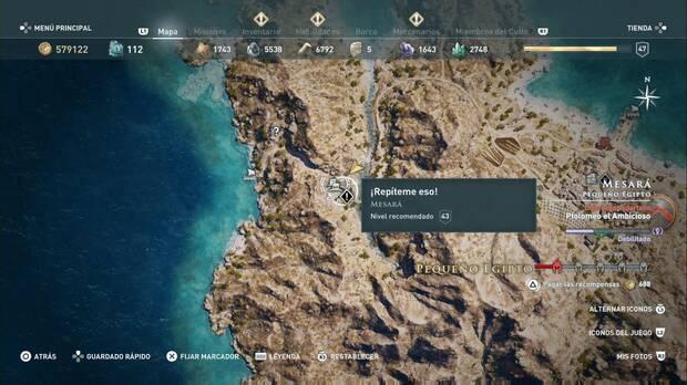 Assassin's Creed Odyssey - ¡Repíteme eso!: localización