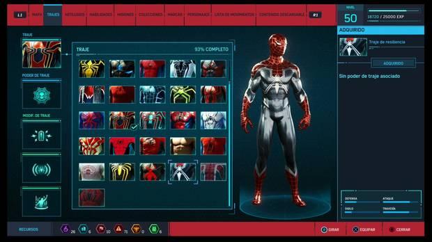 Marvel's Spider-Man - Trajes: Traje de resiliencia