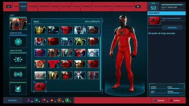 Marvel's Spider-Man - Trajes: Traje de araña escarlata II