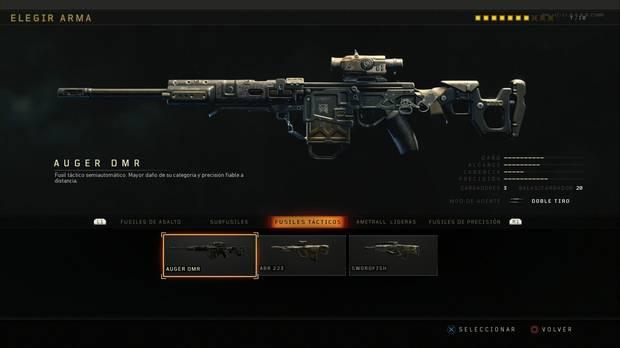 Fusiles tácticos Black Ops 4