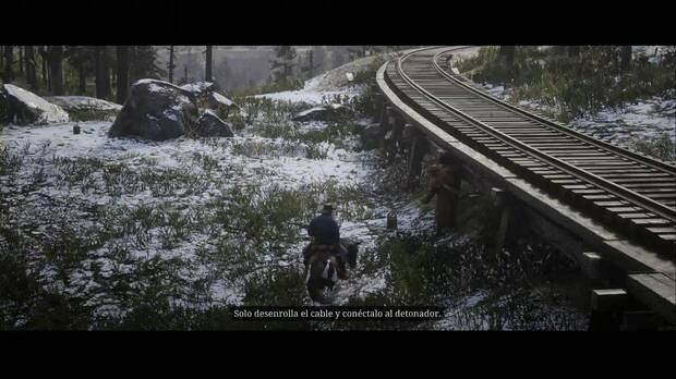 Red Dead Redemption 2 - ¿Quién diablos es Leviticus Cornwall?: ayda a Bill con los detonadores